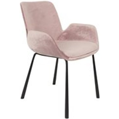 Zuiver Pair Of Brit Armchairs - Pink