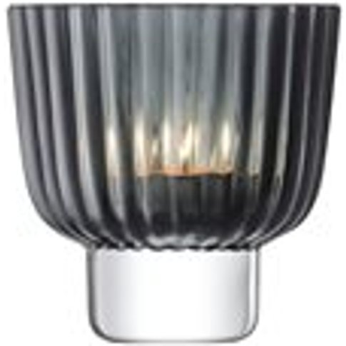 Lsa Pleat Tealight Holder In Grey