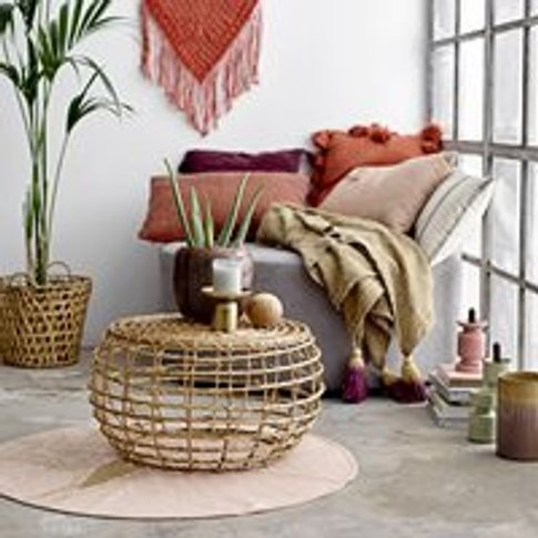 Bloomingville Natural Cane Baril Coffee Table