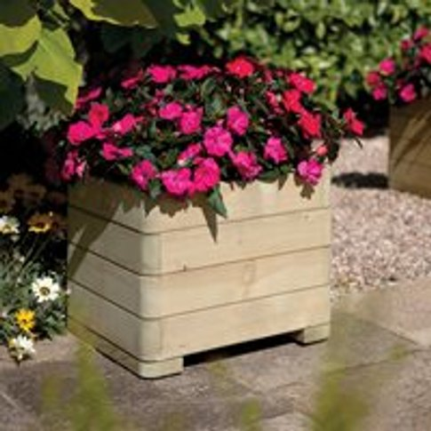 Rowlinson Marberry Wooden Planter - Square