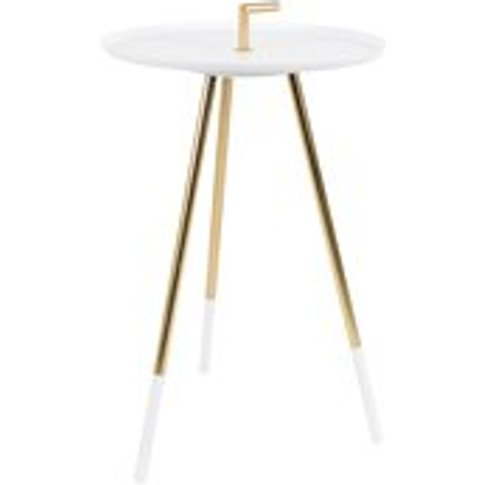 Rumbi Small Side Table In White