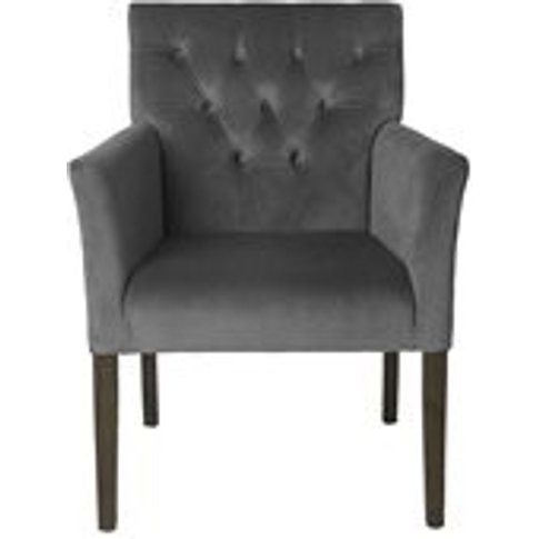 Cozy Living Sander Upholstered Velvet Armchair In An...