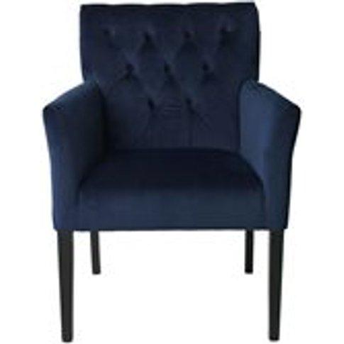 Cozy Living Sander Upholstered Velvet Armchair In Ro...