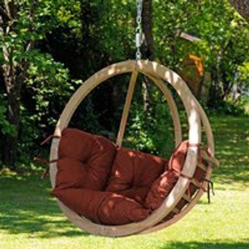Globo Garden Hanging Chair in Terracotta
