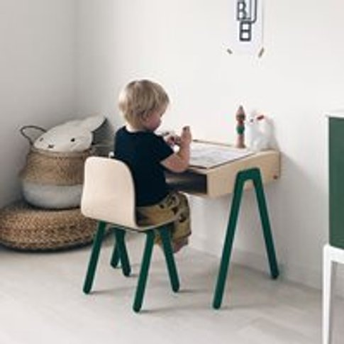 Small Children's Desk And Chair  - Red Orange