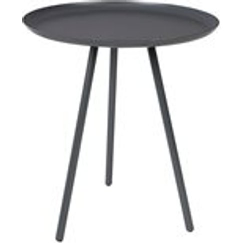 Frost Round Side Table in Charcoal