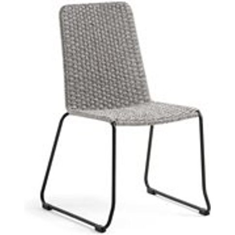 Pair of Meggie Woven Dining Chairs in Spotted Brown