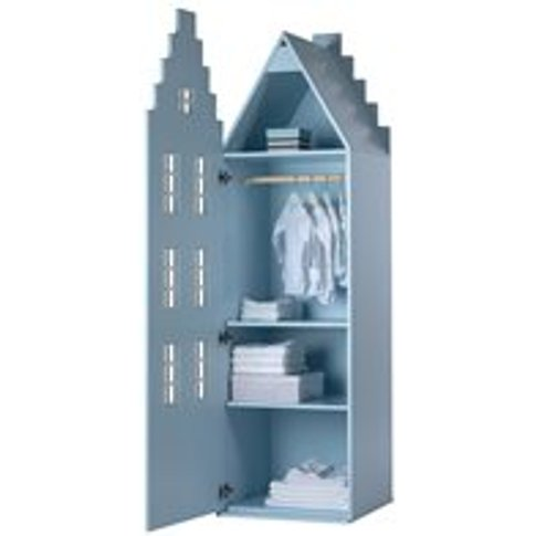 Amsterdam Stair Gable Wardrobe In Pastel Colours - S...