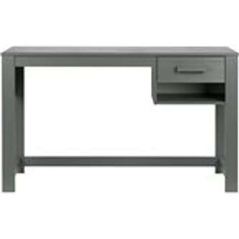Dennis Junior Computer Desk In Steel Grey By Woood