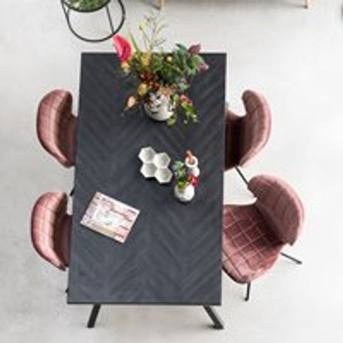 Zuiver Seth Herringbone Dining Table In Black - 220c...