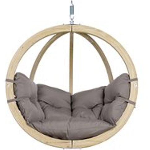 Globo Garden Hanging Chair in Weatherproof Taupe