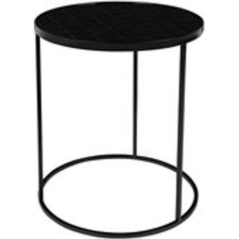 Zuiver Glazed Side Table In Black