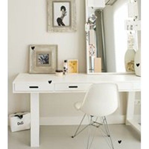 Contemporary Writing Desk With 4 Drawers In White By...
