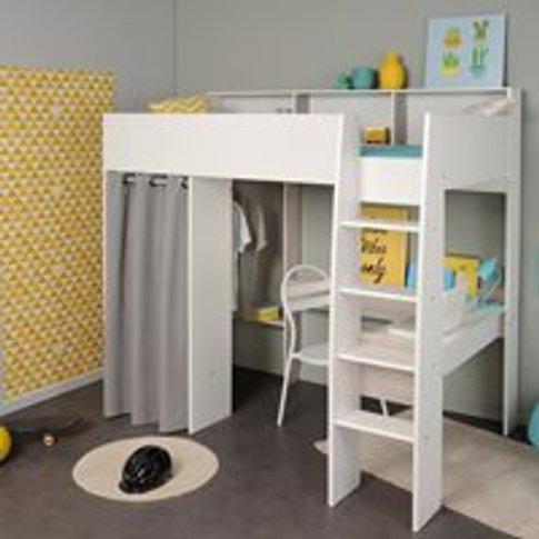 Parisot Taylor Kids High Sleeper With Desk & Wardrobe