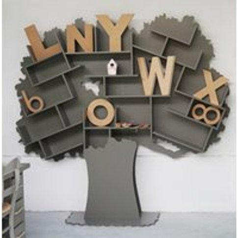 Mathy By Bols Tess Tree Bookcase - Mathy Cement Grey