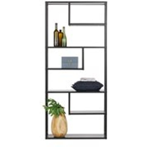 Teun Black Metal Shelving Unit By Woood - Extra Large