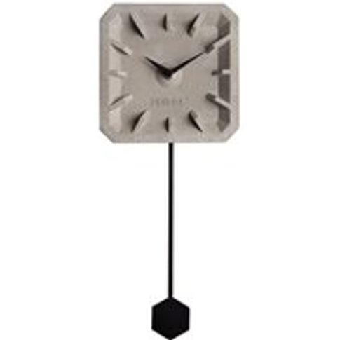 Zuiver Tiktak Time Concrete Clock in Black