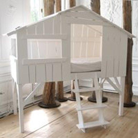 Mathy By Bols Treehouse Single Cabin Bed - Mathy Pearl Grey