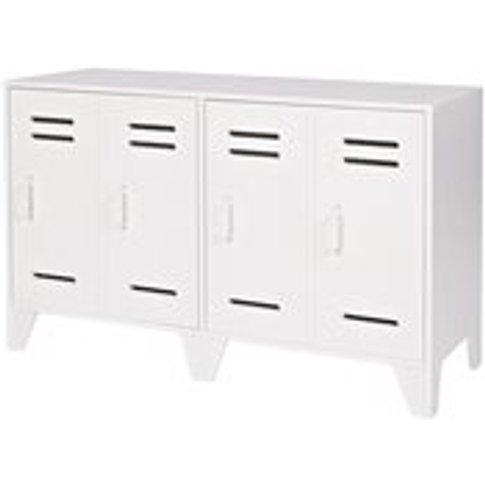 Stijn Low Locker 2 Door Cabinet In White By Woood