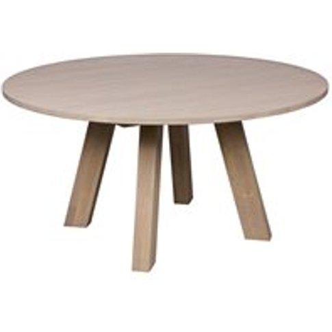 Rhonda Round Dining Table In Untreated Oak By Woood