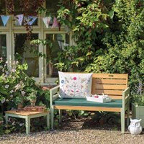 Verdi 2 Seat Wooden Garden Bench