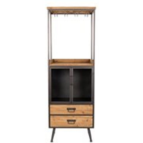 Damian High Industrial Wine Cabinet