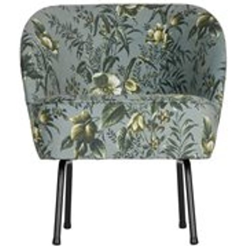 Vogue Velvet Armchair in Poppy Grey by BePureHome