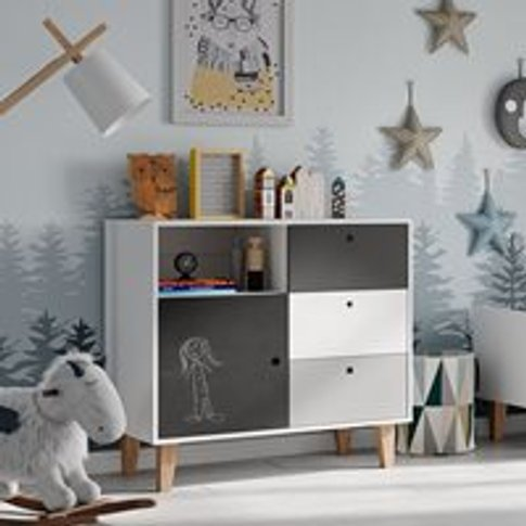 Vox Concept Chest Of Drawers In Grey & Black