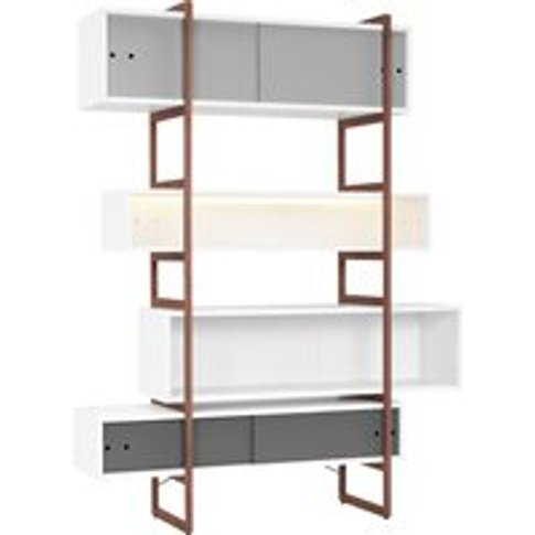 Vox Mio Bookcase & Storage Unit With Sliding Doors