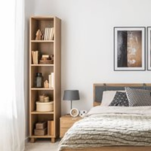Vox Simple Narrow Single Bookcase - White