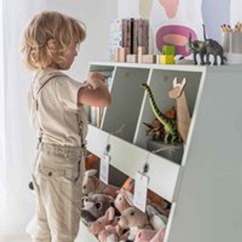 Vox Tuli Bookcase & Toy Storage - Pastel Green