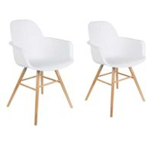 Zuiver Pair Of Albert Kuip Retro Moulded Armchairs I...