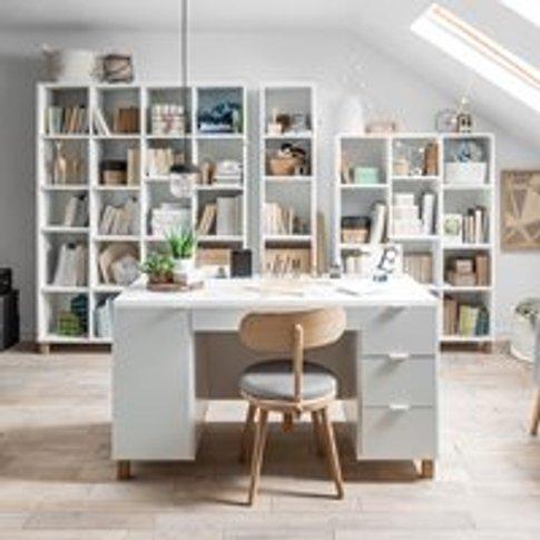 Vox Simple Large Desk - Oak Effect