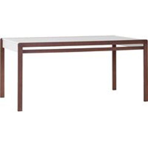Vox Mio Dining Table in White & Dark Beech Effect