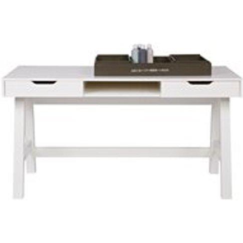 Nikki Computer & Office Desk In White By Woood