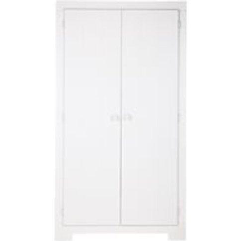 Nikki Wardrobe with Storage Drawer in White by Woood