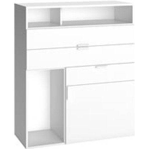 Vox 4 You Sideboard With 3 Drawers & Cupboard In White