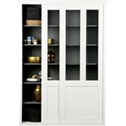 Vince Display Cabinet With Sliding Doors In White By...