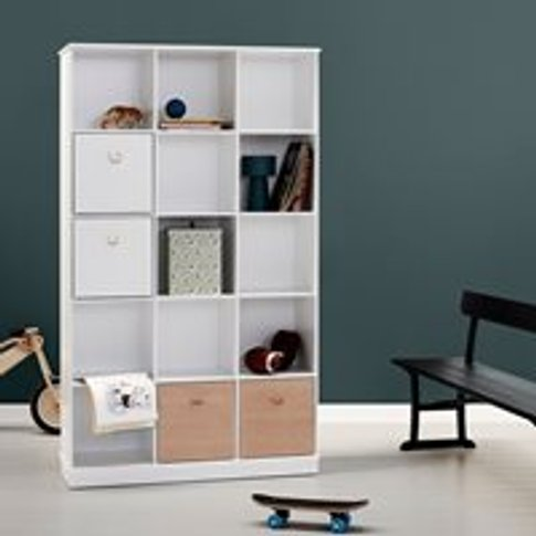 Oliver Furniture Wood Vertical Boxed Shelving Unit I...