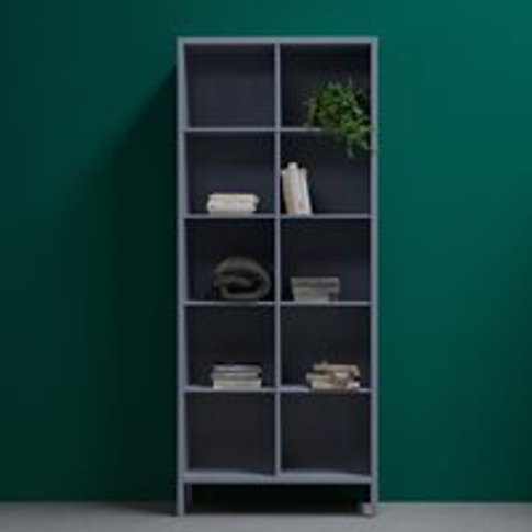 Laura Pine Bookcase By Woood - Concrete Grey