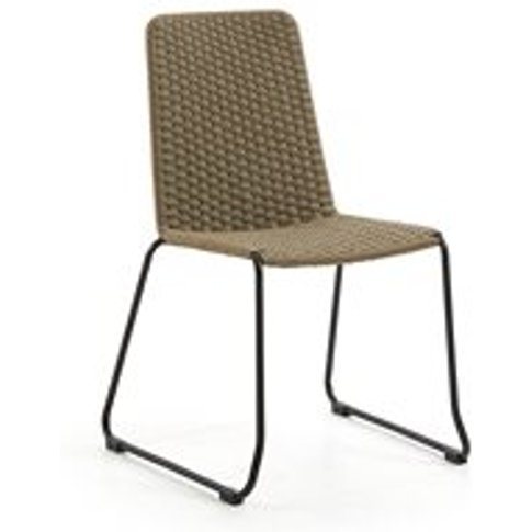 Pair of Meggie Woven Dining Chairs in Beige