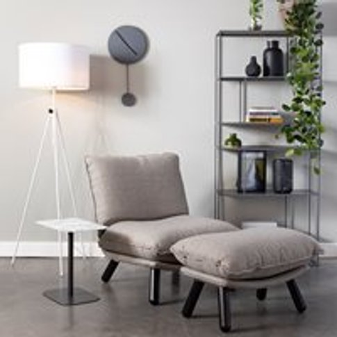 Zuiver Lazy Accent Chair in Light Grey