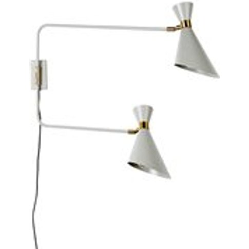 Zuiver Shady Double Wall Light In Grey