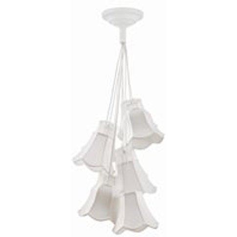 Retro Granny Ceiling Light In White