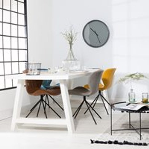Zuiver A-Framed Dining Table In White - Medium