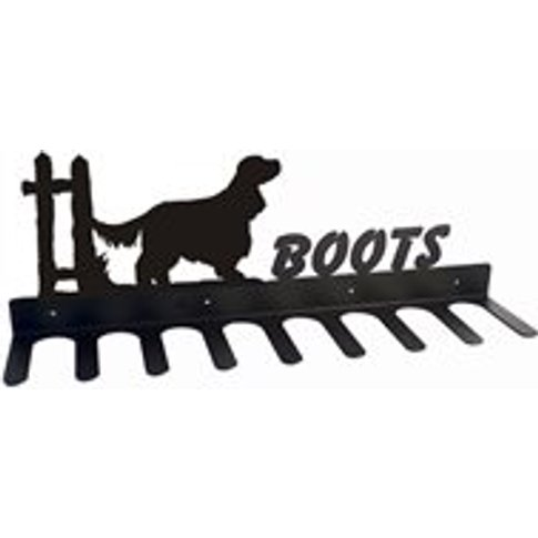 Boot Rack In English Cocker Spaniel Design - Large