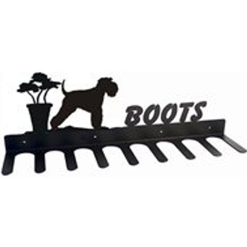 Boot Rack In Miniture Schnauzer Design - Large