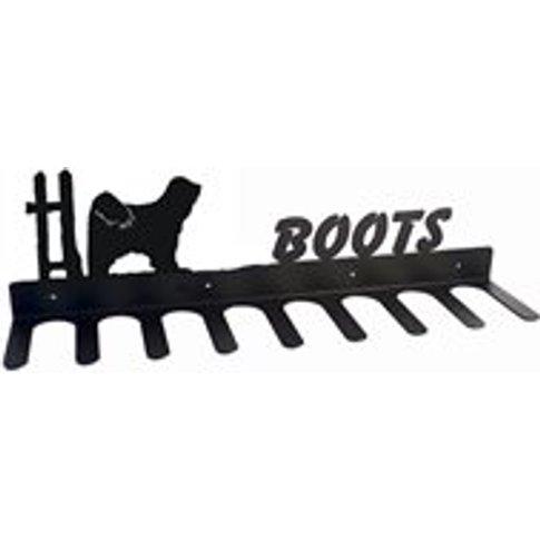 Boot Rack In Tibetan Terrier Design - Medium