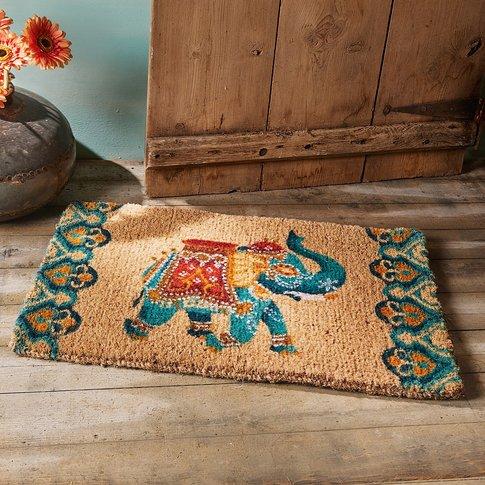 Blue Elephant Doormat