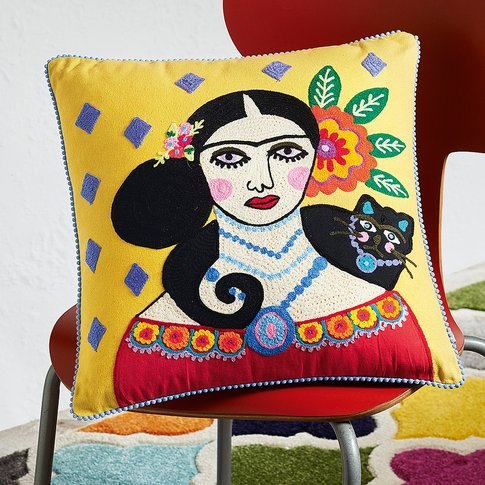 Frida Kahlo Cat Cushion